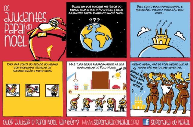 Tirinha em quadrinhos #1 dos Ajudantes do Papai Noel